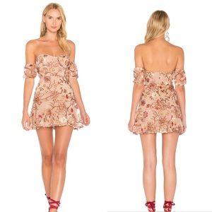 For Love and Lemons Botanic Strapless Dress Floral